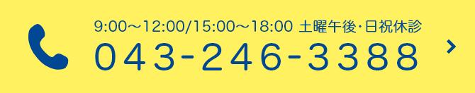 TEL:043-246-3388